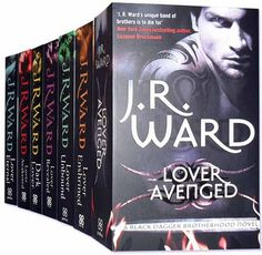 The Black Dagger Brotherhood Series by JR Ward.  I NEED TO READ THESE!  All my reading friends have recommended this series!