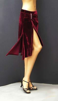 td-015 velvet tango skirt