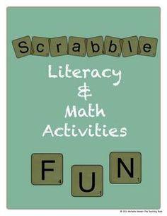 Scrabble Math & Literacy Activities