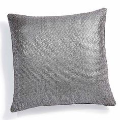 Techno cushion cover, silver - maisonsdumonde - £9.90