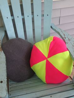 OOAK Upcycled Sweatshirt Pouf Pillow Hot Pink by LakeShoreHome, $25.00
