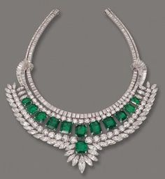 Royal Jewels of Italy - House of Savoy's Emerald and Diamond Neckalce