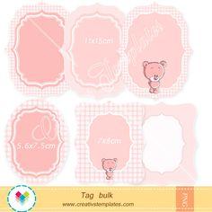 Kawaii teddy bear tag