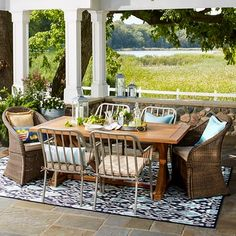 Threshold™ Morie Patio Furniture Collection $320 table and $200 white chairs