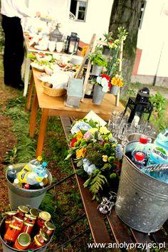 Wedding outdoor, buffets  / Bufety wesele w plenerze