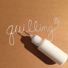 Our quilling glue is a lightweight PVA glue that makes quilling oh-so-easy. Available in a small ( oz. ) bottle with a precision needle tip applicator that allows you quill quickly, with less mess Quilling Letters, Paper Quilling Jewelry, Quilled Paper Art, Quilling Paper Craft, Paper Beads, Paper Crafts, Art Crafts, Quilling Instructions, Paper Quilling Tutorial