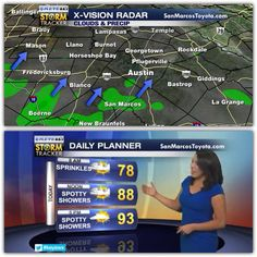 A couple showers around #austin this morning & the chance continues today. Happy #humpday #liveonkeye #keyewx
