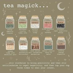 For the tea loving witch 🔮🖤🍵 . Green Witchcraft, Wiccan Witch, Wicca Witchcraft, Magick, Witch Rituals, Books And Tea, Witchcraft For Beginners, Herbal Magic, Herbal Witch