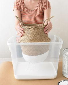 dip-dyed baskets as seen on @Holly Hanshew Hanshew Elkins Becker, via martha stewart