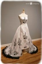 Black and White Wedding Dress - Giada Dress - Avail & Company, LLC