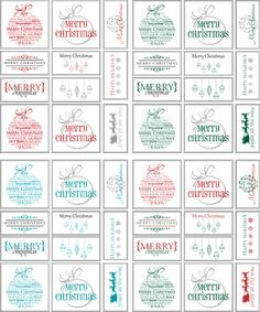 This year, all the Christmas presents under our tree will be wrapped in red/white/silver. I'm a sucker for the color-coordination and really. Diy Christmas Tags, Free Printable Christmas Gift Tags, Holiday Gift Tags, Christmas Presents, Classy Christmas, Christmas Ideas, Printable Tags, Noel Christmas, Holiday Ideas