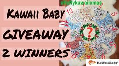 Hi, friends! I am so excited to present to you the brand NEW KAWAII Baby 12 Days of Cristmas prints collection!   Please, watch the video to find out how you can enter with the chance TWO of YOU to WIN one of these beautiful Christmas Diapers 😍!!!