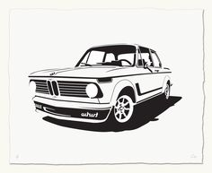 Image of Bavarian Autosport 2002 Bmw 2002, Classic Motors, Classic Cars, Porsche Factory, Bmw Love, Car Illustration, Car Posters, Car Drawings, Automotive Art