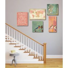 Winston Porter 'Places to Explore' 5 Piece Print Set on Canvas Frames For Canvas Paintings, Canvas Wall Art, Wall Art Sets, Large Wall Art, Black And White Photo Wall, Home Decor Wall Art, Room Decor, Hanging Art, Frames On Wall