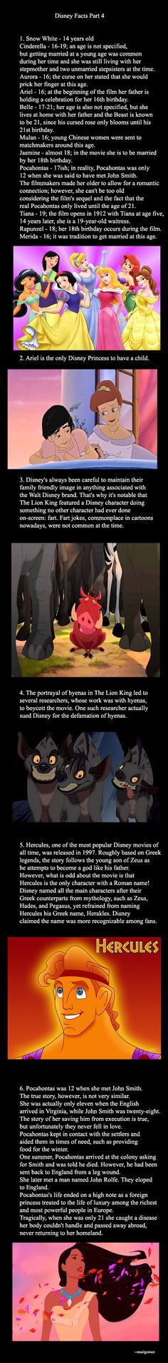 Disney Facts Part 4 (The last fact :That makes more since with the second movie, sucks that she dies at a young age though)