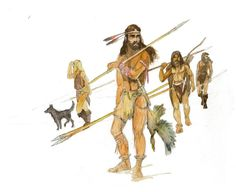 Cro-Magnon hunters by Sedeslav on DeviantArt Panthera Leo Spelaea, Prehistoric Age, Cro Magnon, Old Warrior, Ages Of Man, Early Humans, Primitive Survival, Human Evolution, Sword And Sorcery