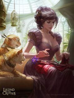 "Very Beautiful Girl, Witch. Illustration / Davvero bella ragazza, Strega. Illustrazione - Art by depingo on deviantART, ""Wilhelmina, Quaint Noble"""