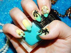 ~ Jeszcze tylko jedna buteleczka ~ : Wibo Extreme Nails 548 w wakacyjnym zdobieniu - Palm Tree Nail Art