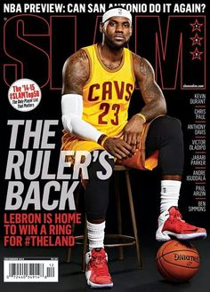 hot sale online 9aab3 cd191 SLAM Cleveland Cavalier LeBron James appeared on the cover of the issue of SLAM  Magazine 2 years later, he gave the 216 what he said he would, ...