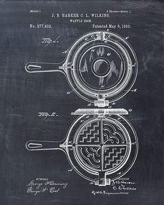 Patent Print of a Waffle Iron Patent Art Print by VisualDesign, $6.95