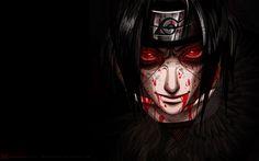 Akatsuki Uchiha Itachi Blood Sharingan eyes cool guy male anime hd wallpaper desktop pc background 0023.