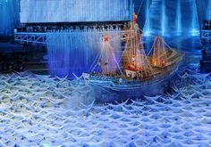 Artists perform aboard a ship in the opening ceremony of the 16th Asian Games on November 12, 2010. (LIU JIN/AFP/Getty Images) #