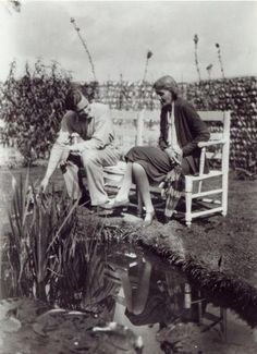 Virginia Woolf and John Lehmann at Charleston, c.1931    © Bridgeman Art Library / Private Collection
