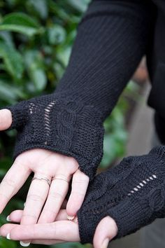 Socks by Sock Dreams » Arm Warmers » Cable Lace Fingerless Gloves  We need these for our office