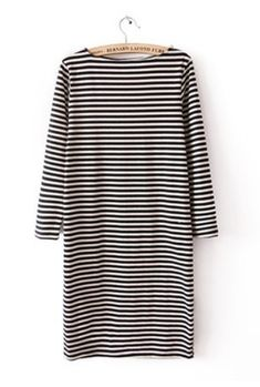 Striped Long Sleeve Sweater Dress