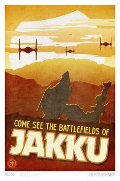 Star Wars Jakku Ver 3 Travel Poster 12 x 18 by PasspArt on Etsy