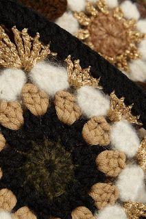 very bling crochet granny square! Crochet Coat, Crochet Jacket, Crochet Cardigan, Love Crochet, Crochet Clothes, Crochet Motifs, Crochet Squares, Crochet Granny, Crochet Doilies