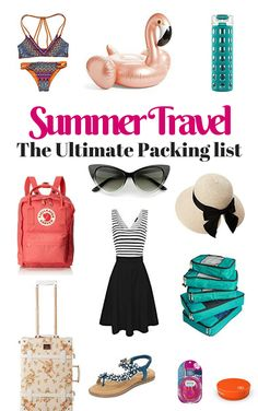 Summer Travel - The Ultimate Packing List. It is no better time to travel than during the Summer sea Ultimate Packing List, Packing List For Travel, Packing Tips, Europe Packing, Travel Checklist, Travel Europe, Time Travel, Travel Destinations, Travel Essentials
