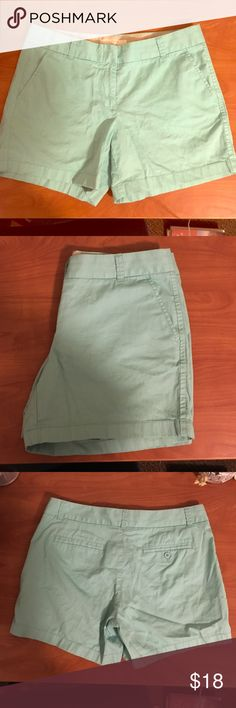 J.Crew mint chino shorts 8 Only worn once. J.Crew mint chino shorts, more green than in pictures. 3in inseam. J. Crew Shorts