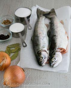 Pickled  Selyodka Recipe (pickled fish).  Selyodka Recipe, seledka, селедка.  Russian food, Russian recipes