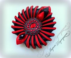 Главная страница друга Diy Ribbon, Ribbon Art, Ribbon Bows, Ribbon Jewelry, Ribbon Crafts, Fancy Bows, Material Flowers, Fabric Flower Brooch, Fabric Flowers