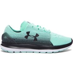 Under Armour Women's UA SpeedForm® Slingride Fade Running Shoes ($75) ❤ liked on Polyvore featuring shoes, athletic shoes, mesh shoes, under armour shoes, mesh running shoes, grip shoes and flexible shoes