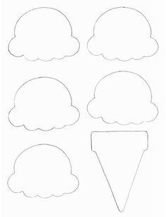 Manualidades Alimentos - Imprimir Plantilla del cono de helado en AllKidsNetwork.com
