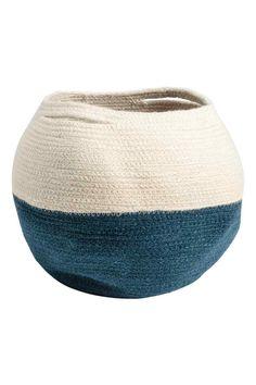 Корзина для хранения из джута - Натуральный белый/Синий - HOME | H&M RU 1