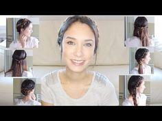 6 Peinados faciles y rápidos para el dia a dia! ♥♥♥ - YouTube