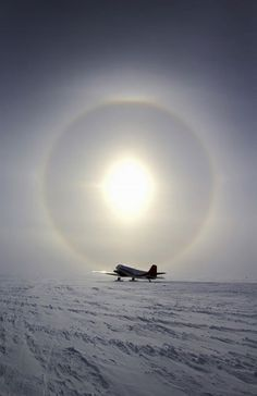 Sun Halo over South Pole, Antarctica photographer by Hunter Davis Sky Art, Natural Phenomena, Antarctica, Continents, Racing, Clouds, Explore, Sunset, History