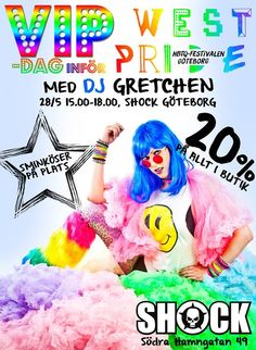 Me in the ad for the pride event at Shock next week http://finest.se/gretchenofsweden #stylechat #pride #gbgftw #gretchen #dj #shopping #fashionblogger