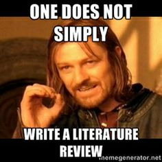 I'm following a literature review from PhD student, how can I reference that to my dissertation?