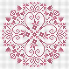 ideas for embroidery patterns free mandala Cross Stitch Heart, Cross Stitch Samplers, Cross Stitch Flowers, Cross Stitching, Embroidery Hearts, Embroidery Patterns Free, Cross Stitch Embroidery, Cross Stitch Designs, Cross Stitch Patterns