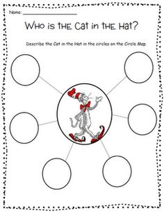 Free!!! Who is the Cat in the Hat? Fun for asking & answering questions!