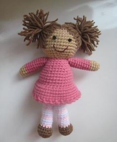 Hand crocheted doll
