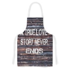 Kess InHouse Suzanne Carter 'True Love' Contemporary Typography Artistic Apron