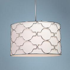 Modern Morocco wide chrome pendant chandelier