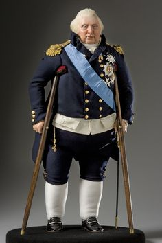"Full length portrait of Louis XVIII aka. ""Louis the Unavoidable"" from Historical Figures of France Doll Museum, French Royalty, French History, Military Figures, Madame Tussauds, Art Sculpture, French Revolution, Marie Antoinette, Historical Clothing"