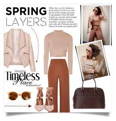 """Spring layers"" by dudubags ❤ liked on Polyvore featuring River Island, Zizzi, Jonathan Simkhai, Anja and Aquazzura"