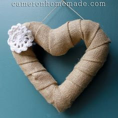 make a heart-shaped wreath from (you guessed it!) pipe insulation